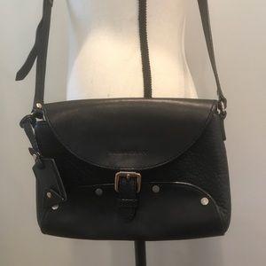 Burberry Authentic Black Leather Crossbody Bag